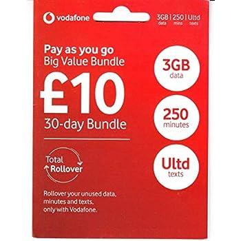 Amazon.com: UK Vodafone - Tarjeta SIM de datos 4G rápidos ...