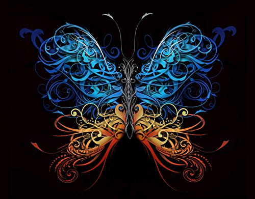 Butterfly Wall Mural Peel & Stick Poster - Vivid Color Print