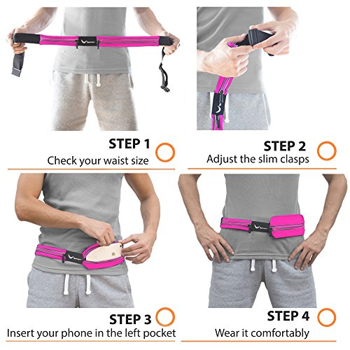 Voted-1-Running-Belt-The-Runtasty-Runners-Fanny-Pack-for-iPhone-6-7-7-Plus-Android-Samsung-No-Bounce-Waterproof-Dual-Pocket-Fitness-Travel-Belt-Sleekest-Most-Durable-in-the-World
