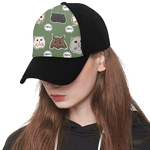 (Baseball Cap Unisex Scottish Fold Cat Pet Cute Catton Printing(Front Panel Custom) Cotton Dad Hat Soft Adjustable Trucker Cap Sun Hats for Women Men Hip-hop Sports Summer Beach Outdoor )