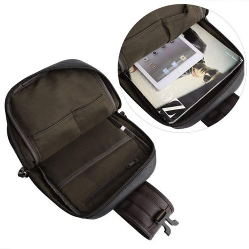 Black Eyesonme Mens Leather Chest Sling Packs Shoulder Cross Body Bag Cycle Day Packs Satchel Big Left//Right Alternate