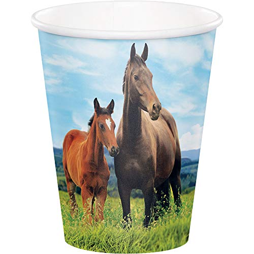 Kentucky Derby Paper Cups for Mint Julep Disposable Cups Party Cups Hot or Cold Preakness Stakes Belmont Cocktail Party 9 oz. Pk 16