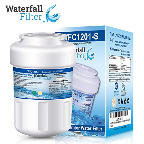 Waterfall Filter - Refrigerator Water Filter Compatible with GE MWF SmartWater ()