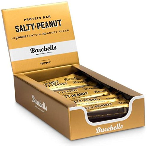 Barebells Protein Bar 55g x 12 (Salty Peanut) by Barebells Protein