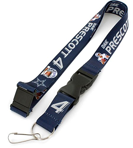 Dallas Cowboys Candle - aminco NFL Dallas Cowboys Dak Prescott Players Action Lanyard