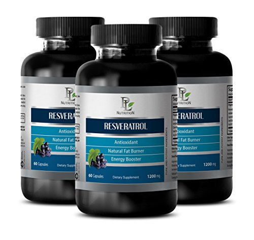 Prostate health - RESVERATROL - Grape seed extract - 3 Bottles 180 Capsules by PL NUTRITION