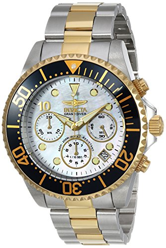 Invicta Men's Pro Diver Quartz Watch with Stainless-Steel Strap, Two Tone, 22 (Model: 22038