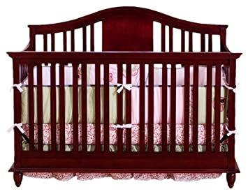 BSF Baby Addison 4 In 1 Convertible Crib, Cherry