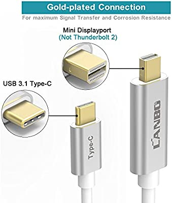 USB-C to DisplayPort Adapter Cable 4K@60Hz 6FT(1 83M),LANBO USB 3 1