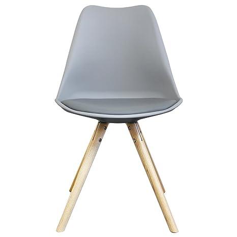 Tulip estilo plástico silla con asiento de piel sintética ...