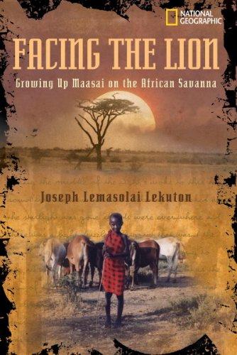 Facing Lion Growing African Savanna ebook product image
