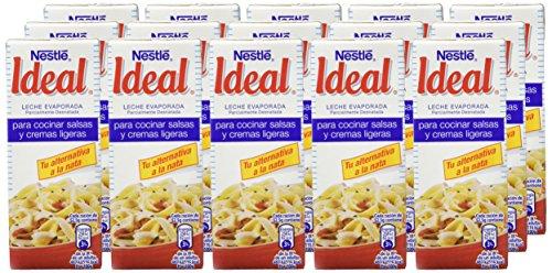 Nestlé IDEAL Leche Evaporada Semidesnatada - Caja de 15 x 200ml (210 gr): Amazon.es: Alimentación y bebidas