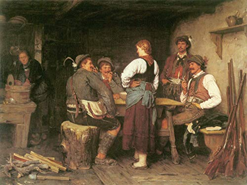 (Home Comforts Peel-n-Stick Poster of Defregger, Franz von - Poacher in The Alpine Hut Vivid Imagery Poster 24 x 16 Adhesive Sticker Poster Print)