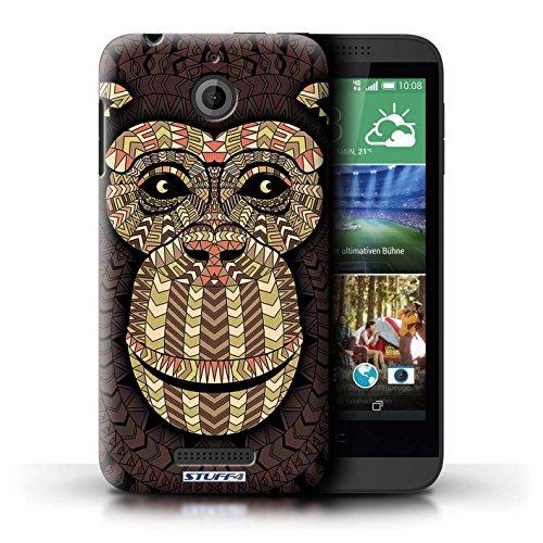 Coque de Stuff4 / Coque pour HTC Desire 510 / Singe-Sépia Design / Motif Animaux Aztec Collection