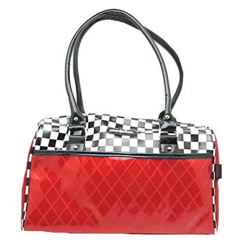 Jawbreaker-Fleetwood-Racing-Checker-50s-Retro-Rockabilly-Purse-Handbag