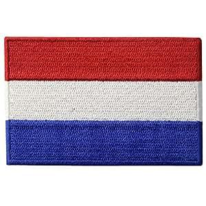 Los Países Bajos Bandera Bordada Holland Emblema Nacional Neerlandés De Hierro En Coser El Parche