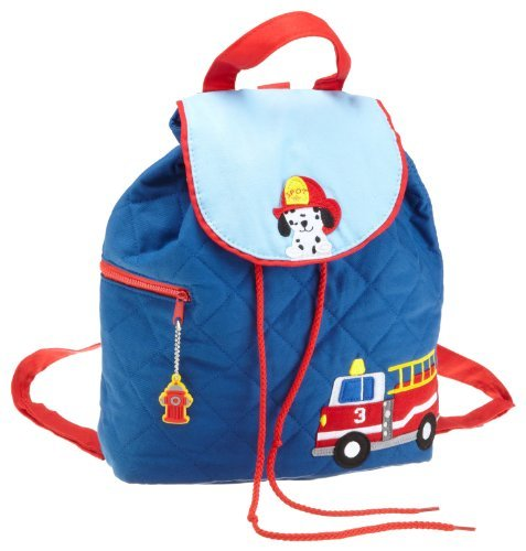 (Firetruck quilted backpack by Stephen Joseph)