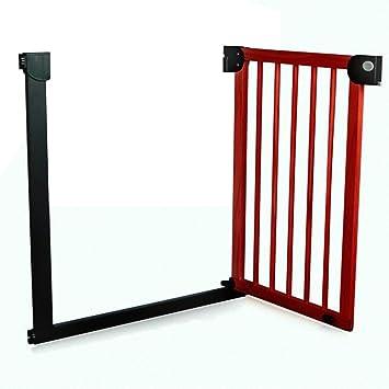 Barrera seguridad Puerta de Madera para bebés para Puertas de escaleras, Puertas de Mascotas montadas