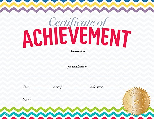 Creative Teaching Press Chevron Certificate of Achievement Large Award (0674)
