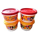 Tupperware Disney Snack Cups, 125ml, Set of 4