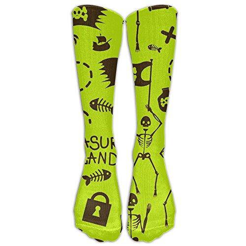 Zaqxsw Fun Pirates Womens Socks Crew Tube Boot Socks Look Knee High Pirate Boots