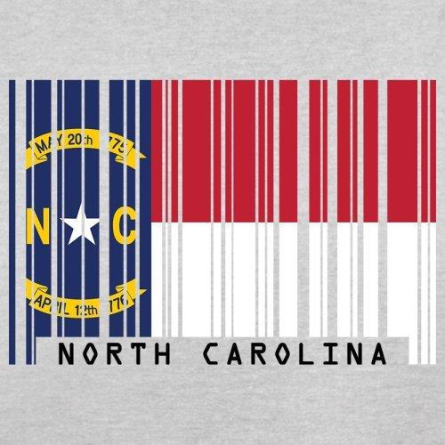 North Carolina / Nord-Carolina Barcode Flagge - Herren T-Shirt - Hellgrau - XL