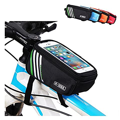 Top Tube Bike Frame Bag LECCER Super Light Cycling Bicycle Front Bag Pannier Single Pouch for up to 5.7 inch Cellphone - Front Pannier