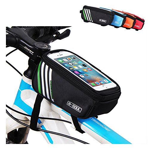 Top Tube Bike Frame Bag LECCER Super Light Cycling Bicycle Front Bag Pannier Single Pouch for up to 5.7 inch Cellphone Phone