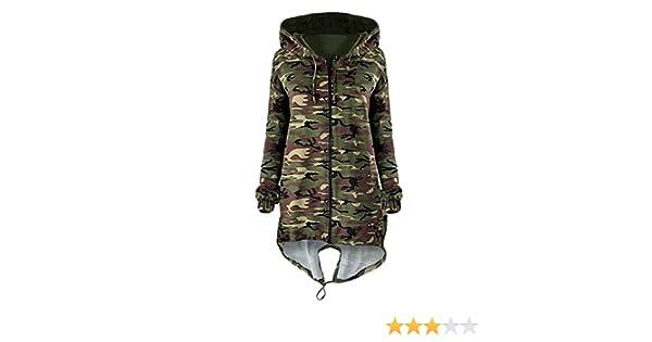 502741c88024c Vemubapis Women Zip up Hooded Camouflage Jacket Longline Hoodie Coat at  Amazon Women's Coats Shop