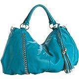 Melie Bianco Miley Shoulder Handbag (Turquoise)