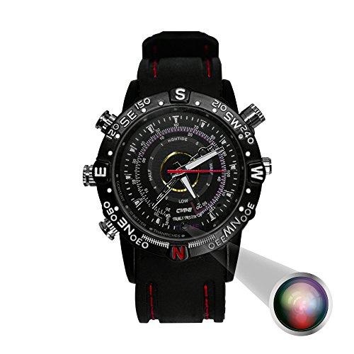 Redlemon Cámara Espía en Forma de Reloj de Mano, Resistente al Agua, Video Calidad 720x480P, Fotos 1.3MP, Ángulo de...