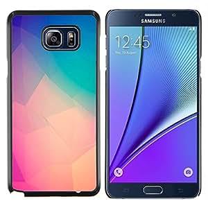 EJOOY---Cubierta de la caja de protección para la piel dura ** Samsung Galaxy Note 5 5th N9200 ** --melocotón del trullo púrpura arte polígono amarilla