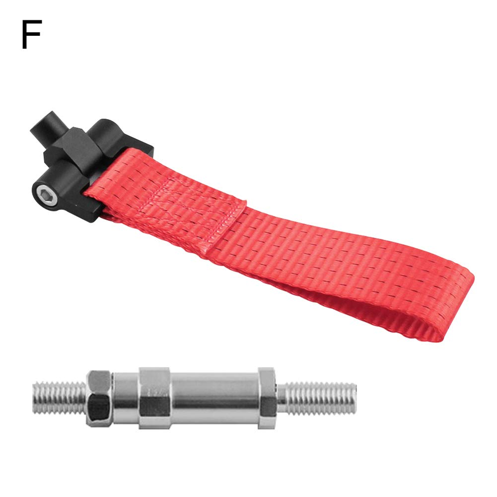 nieliangw0q Racing Car Vehicle Tow Rope Nylon Strap Hook Towing Bar for BMW Mazda Audi Black A