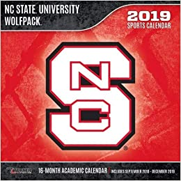 Nc State Calendar 2019 NC State Wolfpack 2019 calendario: Lang Holdings Inc