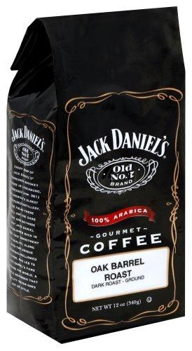 Jack Daniel's Old No. 7 Brand Oak Barrel Roast, Dark, Ground Coffee, 12-Ounce Bags (Pack of 3)