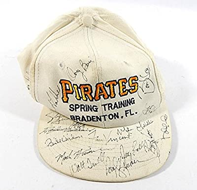 1990 Pittsburgh Pirates Signed Spring Training Baseball Hat ^ 17 Signatures - Autographed Hats