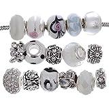 RUBYCA Murano Lampwork Charm Glass Beads Tibetan Crystal - Best Reviews Guide