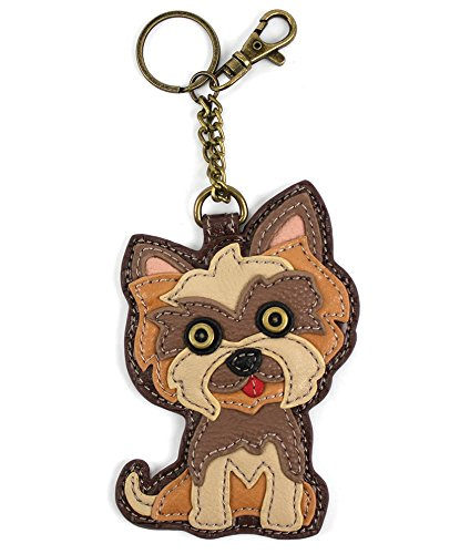 Chala Pal Bag Charm/Key-Fob/Coin Purse- Men's Best Friend Collection (Yorkie Terrier) (Yorkshire Picture Dog Terrier)