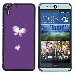 Stuss Case / Funda Carcasa protectora - Flor del amor del corazón Libertad blanca minimalista - HTC Desire Eye ( M910x )