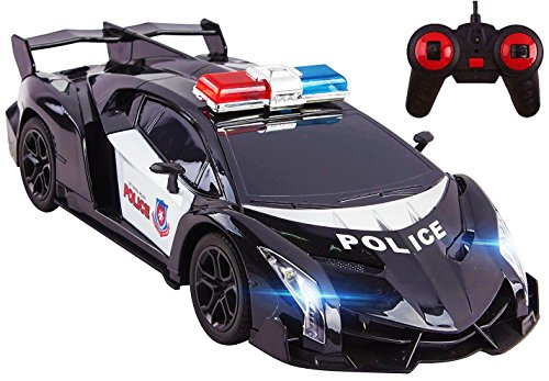 Amazon Com Police Rc Car Toy Super Exotic Large 12 Remote Control