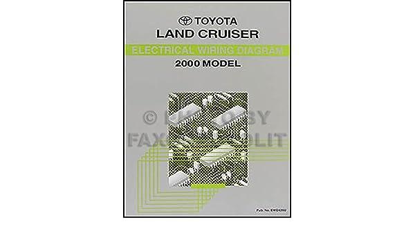 2000 toyota land cruiser wiring diagram manual original toyota amazon com books amazon com
