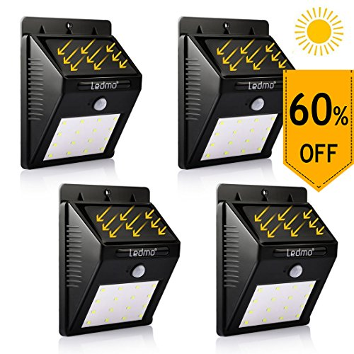 Solar Powered Motion Detector Security Light - 6