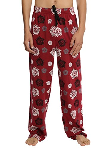 Supernatural Anti-Possession Print Guys Pajama Pants - Supernatural Womens Pajamas