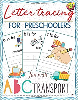 Preschool Easy Learning Activity Workbook Toddler Learning Book Preschool Workbooks: Preschool Prep Alphabet Tracing