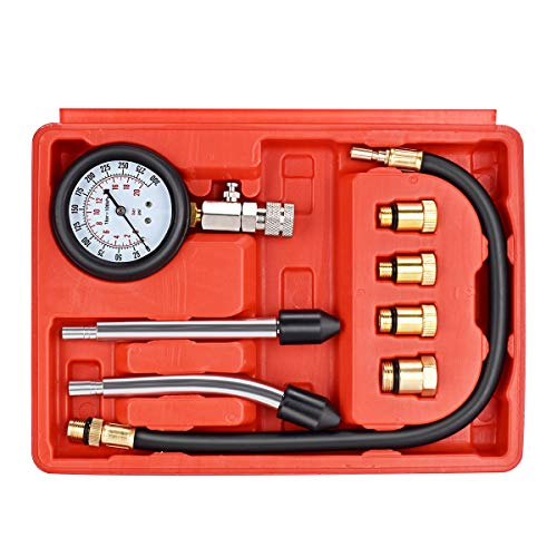 Cheap faersi Professional Compression Test Gauge Kit - Fuel Injection Pressure Tester Set - Engine C...