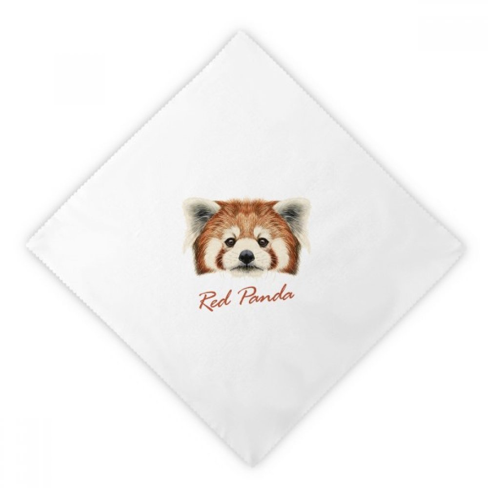 DIYthinker Chestnut Wild Red Panda Animal Dinner Napkins Lunch White Reusable Cloth 2pcs