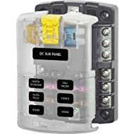 Blue Sea Systems 5025 ST Blade Fuse Block - 6 Circuits with Negative Bus and Cover