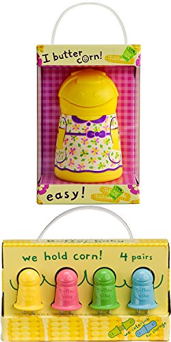 (Butter Holder and Butter Babies Corn Holders for Corn on the Cob (Butter Girl with Butter Babies))