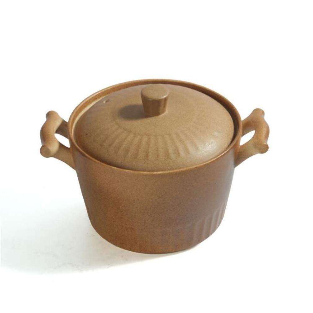 ふた妊娠中の女性の鍋幼児食品サプリメント高温抵抗コーティングされていない鍋のキャセロール料理 4.8L  4.8L B07R9MLKSY