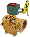 ASCO 8220G029 -120/60,110/50 Brass Body Hot Water and Steam Pilot Operated Diaphragm and Piston Valve, 125 psi Maximum Steam Operating Pressure, 1-1/2'' Pipe Size, 2-Way Normally Closed, EPDM Sealing,